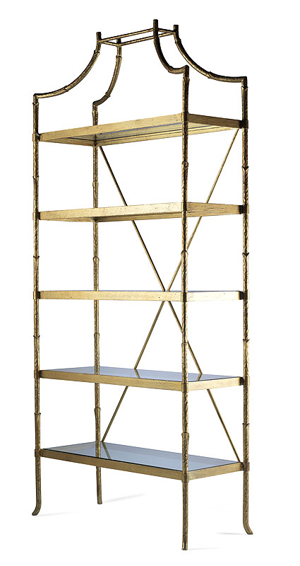 hh07 723 ga golden regency metal etagere. Black Bedroom Furniture Sets. Home Design Ideas
